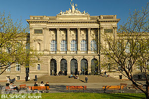 Photo : Palais universitaire, Place de l'université, Strasbourg, Bas-Rhin (67)