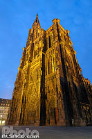 Photo : Illumination de la Cathédrale, Place de la Cathédrale, Strasbourg, Bas-Rhin (67), Alsace, France