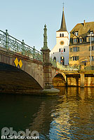 Photo : Eglise et pont Saint-Guillaume, Strasbourg, Bas-Rhin (67), Alsace, France