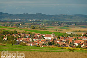 Photo : Village de Willgottheim, Kochersberg, Bas-Rhin (67)