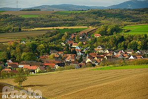 Photo : Village de Wintzenheim-Kochersberg, Bas-Rhin (67), Alsace, France