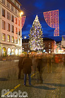 Photo : Grand sapin de noël, Place Kléber, Strasbourg, Bas-Rhin (67), Alsace, France