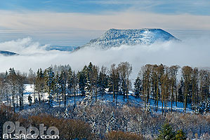 Photo : Bas-Rhin (67), Ranrupt, Le Climont en hiver // FRANCE, Bas-Rhin (67), Ranrupt, The Climont in winter