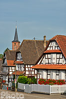 Photo : Village de Hunspach (classé parmi les plus beaux villages de France), Outre-Forêt, Bas-Rhin (67), Alsace, France