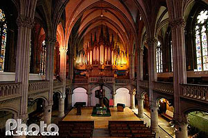 Photo : Nef et orgue, Temple Saint-Etienne, Mulhouse, Haut-Rhin (68), Alsace, France