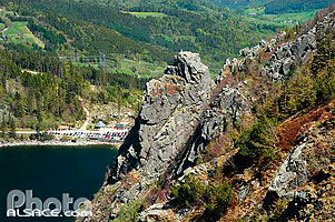 Photo : Le Lac Blanc et le rocher Hans, Orbey, Haut-Rhin (68), Alsace, France