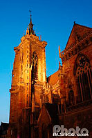 Photo : Eglise Saint-Martin la nuit, Place de la Cathedrale, Colmar, Haut-Rhin (68)