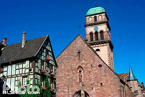 Photo : Eglise Sainte-Croix, Kaysersberg, Haut-Rhin (68), Alsace, France