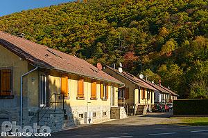 Cité Hartmann (Cité ouvrière construite de 1892 à 1900), Malmerspach, Parc naturel régional des Ballons des Vosges, Haut-Rhin (68), Alsace, France