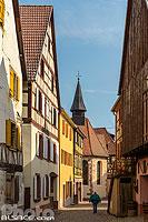 Grand Rue et Chapelle Sainte-Catherine, Soultzbach-les-Bains, Haut-Rhin (68), Alsace, France