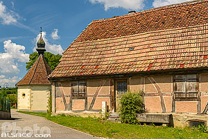 Photo : Village de Hirtzbach, Sundgau, Haut-Rhin (68), Alsace, France