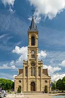 Rue du Château et église Notre-Dame, Altkirch, Haut-Rhin (68), Alsace, France