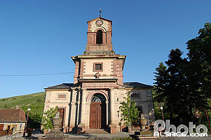 Photo : Eglise Saint-Blaise, Westhalten, Haut-Rhin (68), Alsace, France