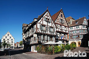 Photo : Maison alsacienne Zum Kübler, Grand Rue, Colmar, Haut-Rhin (68)