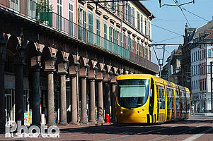 Photo : Rame de Tramway, Avenue Foch, Mulhouse, Haut-Rhin (68), Alsace, France