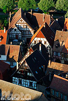 Photo : Maisons alsacienne de Kaysersberg, Haut-Rhin (68), Alsace, France