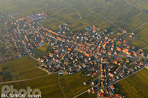 Photo : Village de Bennwihr, Haut-Rhin (68)