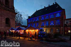 Photo : Noël Bleu, Guebwiller, Haut-Rhin (68), Alsace, France