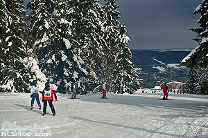 Photo : Piste de ski Carrefour, Station du Lac Blanc, Orbey, Haut-Rhin (68)