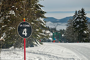 Photo : Piste de ski La Combe, Station du Lac Blanc, Orbey, Haut-Rhin (68), Alsace, France
