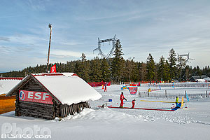 Photo : Ecole de ski ESF, Station du Lac Blanc, Orbey, Haut-Rhin (68), Alsace, France