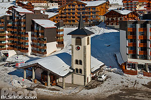 Photo : Eglise de Val Thorens, Saint-Martin-de-Belleville, Savoie (73)