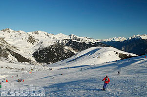 Photo : Piste de ski (Combe de Beaudin), Valmorel, Tarentaise, Savoie (73)