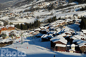 Photo : Station de Valmorel, Tarentaise, Savoie (73)