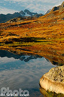 Photo : Lac Guichard et Pic de l'Etendard, Saint-Sorlin d'Arves, Maurienne, Savoie (73)