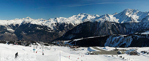 Photo : Piste de ski et Altiport de Courchevel, Saint-Bon-Tarentaise, Savoie (73)