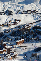Photo : Sation de ski de la Plagne, Mâcot-la-Plagne, Tarentaise, Savoie (73)