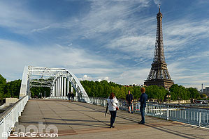 Photo : Passerelle Debilly et la tour Eiffel, Paris (75007)