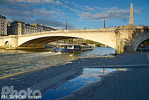 Photo : Pont de la Tournelle et la Seine, Paris (75005)