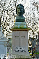 Photo : Tombe de Honoré de Balzac, Cimetière du Père-Lachaise, Paris (75020), Ile-de-France, France