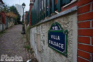 Photo : Villa d'Alsace, Quartier de la Mouzaïa, Paris (75019)