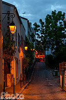Photo : Passage Boiton la nuit, Butte-aux-Cailles, Paris (75013)