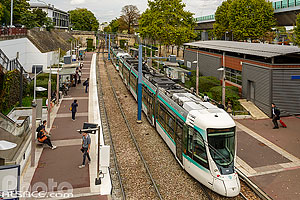 Photo : Station de tramway Parc de Saint-Cloud, Saint-Cloud, Haut-de-Seine (92), Ile-de-France, France