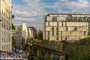 Photo : La Petite Ceinture, Sentier de la Station, Paris (75019), Ile-de-France, France