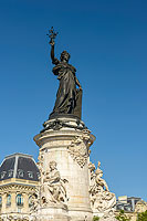 Monument à la République, Place de la République, Paris (75011), Ile-de-France, France