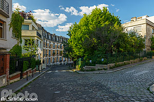 Photo : Butte Bergeyre, Rue Georges Lardennois et Rue Philippe Hecht, Paris (75019)