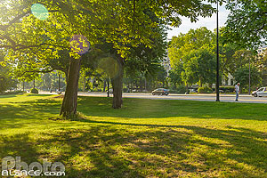 Photo : Jardin au bord de l'avenue Foch, Paris (75016)
