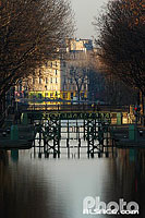 Photo : Eculse du Canal Saint-Martin, Paris (75)