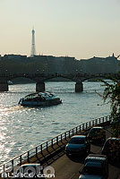Photo : Voie sur berge et la Seine, Paris (75), Ile-de-France, France