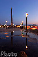 Photo : Place de la Concorde et l'Obélisque, Paris (75), Ile-de-France, France