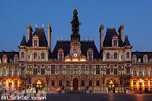 Photo : Hôtel de ville, Place de l'Hôtel de ville, Paris (75)