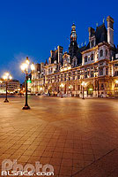 Photo : Hôtel de ville, Place de l'Hôtel de ville, Paris (75), Ile-de-France, France