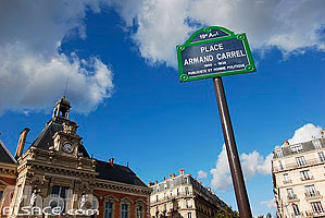 Photo : Place Armand Carrel et Mairie du XIXe arrondissement, Paris (75)