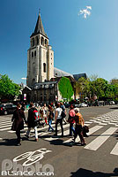 Eglise de Saint-Germain des Prés, Boulevard Saint-Germain, Paris (75), Ile-de-France, France