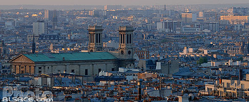 Photo : Paris (Eglise Saint-Vincent de Paul) vue depuis la Butte Montmartre, Paris (75)