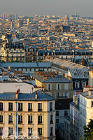 Photo : Immeubles de Montmartre vue depuis la Butte Montmartre, Paris (75)